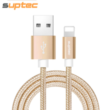 SUPTEC USB Cable for iPhone, Nylon Braided Charger Wire for iPhone X 8 7 6s 6 Plus 5s 5 SE Data Sync Charging Cable for iPad air