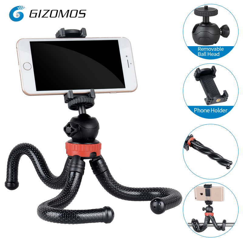 GIZOMOS GP-03ST Flexible Mini Phone Stand Tabletop Octopus Tripod For Smartphone Mirrorless Camera With Ball Head/Phone Hold ольга володарская ответ перед высшим судом