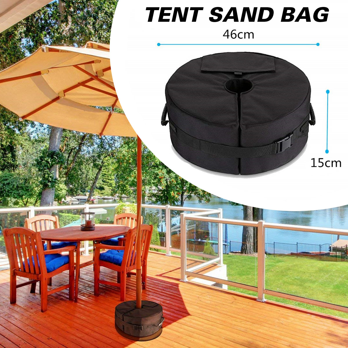 46 15cm Patio Umbrella Weight Base Bags Sand Bag Oxford Cloth For Outdoor Camping Beach Party In Tools From Sports Entertainment On