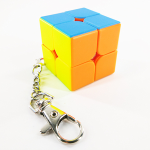 Image 4 - سلسلة مفاتيح صغيرة لعبة ألغاز المكعب السحري 2x2x2 3x3x3 أسطوانة ثلاثية السطوح لعبة تعليمية للأطفال