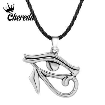 Collar de cuerda de bronce antiguo Chereda para mujeres y hombres ojo Antiguo Egipto colgantes étnicos y collares joyería Punk