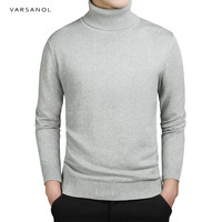 Varsanol Brand New Casual Turtleneck Sweater Men Pullovers Autumn Fashion Tops Solid Slim Fit Knitting Long