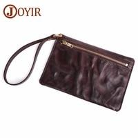 Men Wallet Genuine Leather Purse Men's Clutch Wallets Handy Bags Business Clutch Male Leather Cellhone Pocket Capacity Bag