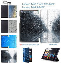 MTT For lenovo tab2 A8-50F A8-50LC tablet 8″ case PU Leather Cover Stand Case for Lenovo Tab 3 TAB3 8.0 850 850F 850M TB3-850M
