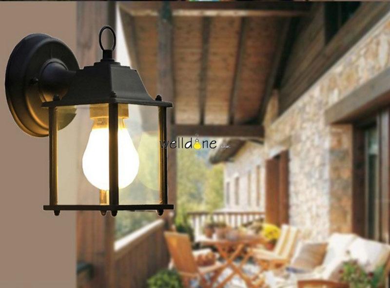 Impermeabile lampada esterna lampada da parete rustico applique da