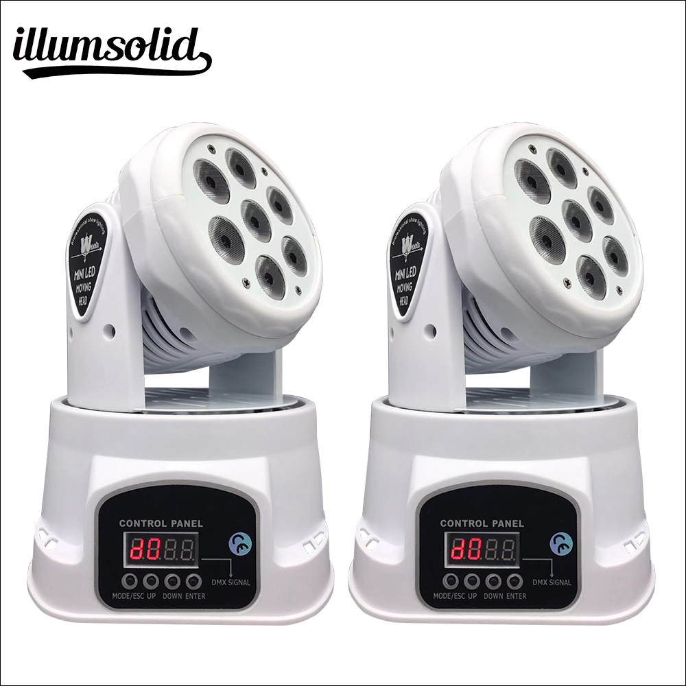 LED 4ni1 RGBW mini moving head Disco Light Stage lighting 2 pieces lot