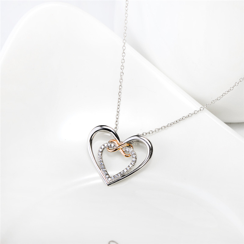 Gnx10892 genuine 925 sterling silver love heart pendants necklaces gnx10892 genuine 925 sterling silver love heart pendants necklaces romantic crystal infinity love necklace for lovers women in pendant necklaces from mozeypictures Images