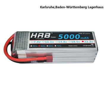 HRB 6S 22.2V 5000mah 50C 100C RC Lipo Battery For Helicopter RC Drone FPV Align 7.2 Racer Runner AKKU