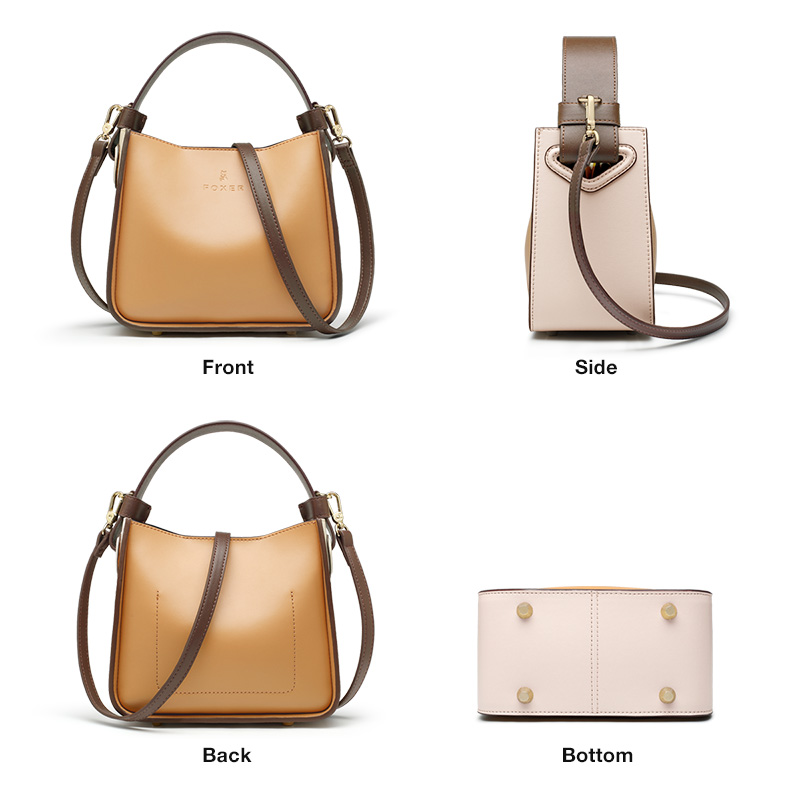 FOXER 2019 NEW Fashion Leather Bucket Bag for Women Stylish High Quality Lady Messenger Bag & Shoulder Bags Valentine's Day Gift 1