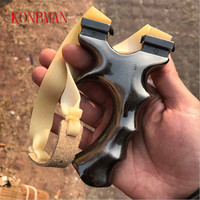 Slingshot For Hunting Catapult with Rubber band Powerful Pocket Slingshots Outdoor Shooting Toy Sling Shot Zinc alloy