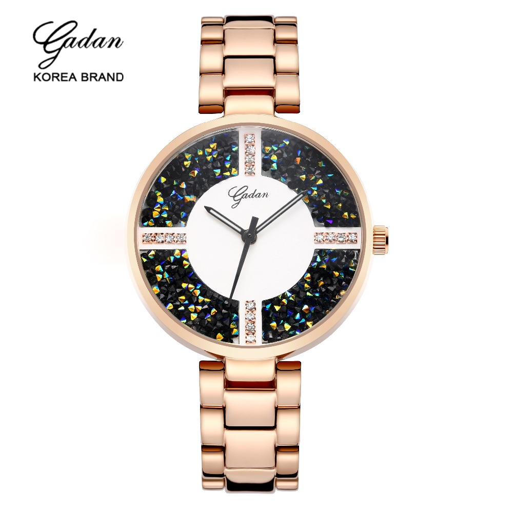 2017 Nine of High Quality Deluxe Crystal Diamond Watches Women's Gold Steel Watch Band Pink Gold Dress Drop Ship Wrist Watch wireless restaurant calling system 5pcs of waiter wrist watch pager w 20pcs of table buzzer for service