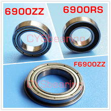 6900ZZ 10*22*6 mm 61900zz Chrome stainless SUS440 304 flange ZRO2 plastic non magnetic ball bearings F6900ZZ S6900RS bike hub(China)