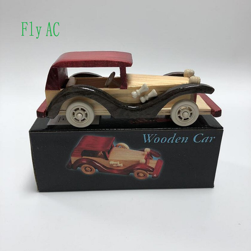 Toy Wooden Car Play Vehicles, Classic Wooden Cast Model Cars, Retro, Car , Old Beetle Models, Moving Vehicle Toys