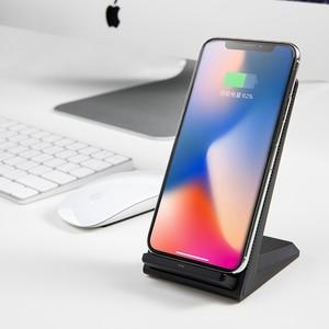 Image 5 - NANFU 5 W/7.5 W/10 W Qi Kablosuz Şarj Cihazı Hızlı Şarj Tutucu Dikey Hava soğutmalı Standı huawei iPhone için X Xs Samsung S8/S9 Telefon