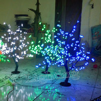 0.8Meter 200LEDS artificial outdoor blossom cherry tree with pink christmas lights cheap price for Europ