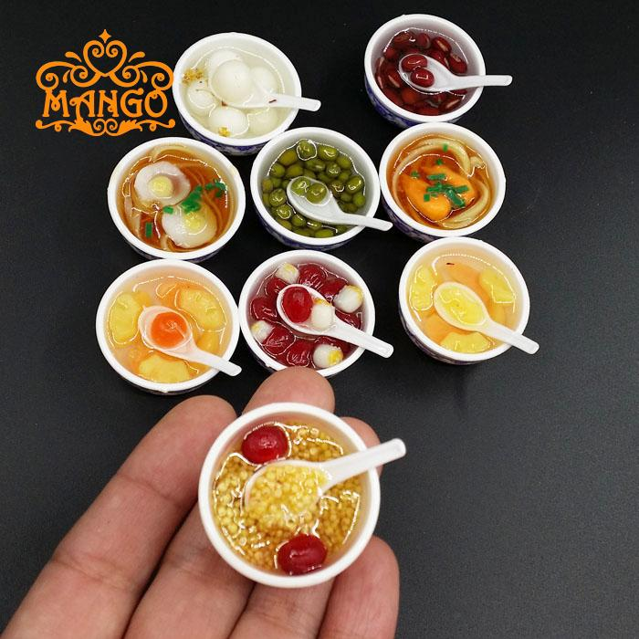все цены на 5PCS/LOT 1:12 Scale Dollhouse Miniature Chinese Play Food Toy Doll Food Miniatura Kitchen Accessories Doll accessories for Barbi онлайн