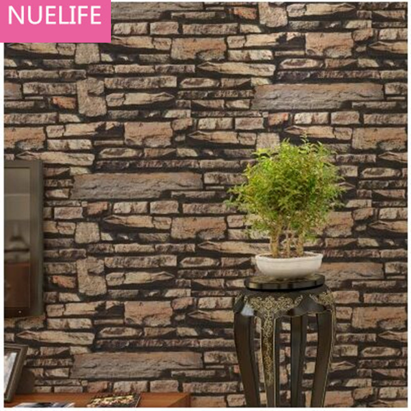 0.53x10m Chinese Stone Pattern  Wallpaper Living Room Bedroom Shop Bar Cafe Restaurant Background Decorative Wallpaper