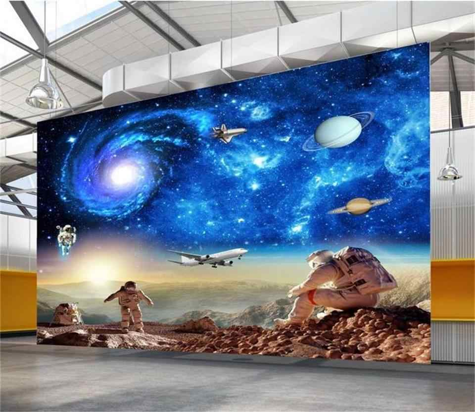 custom size wallpaper 3d photo wallpaper living room mural astronaut galaxy 3d painting sofa TV background wallpaper for wall 3d