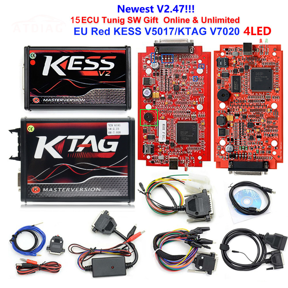 2019 Kess Ktag K Tag V7.020 Kess V2 V5.017 Sw V2.25 V2.47 2.47 Master Ecu Chip Tuning Tool K-tag 7.020 Online Better Ktag V7.003(China)