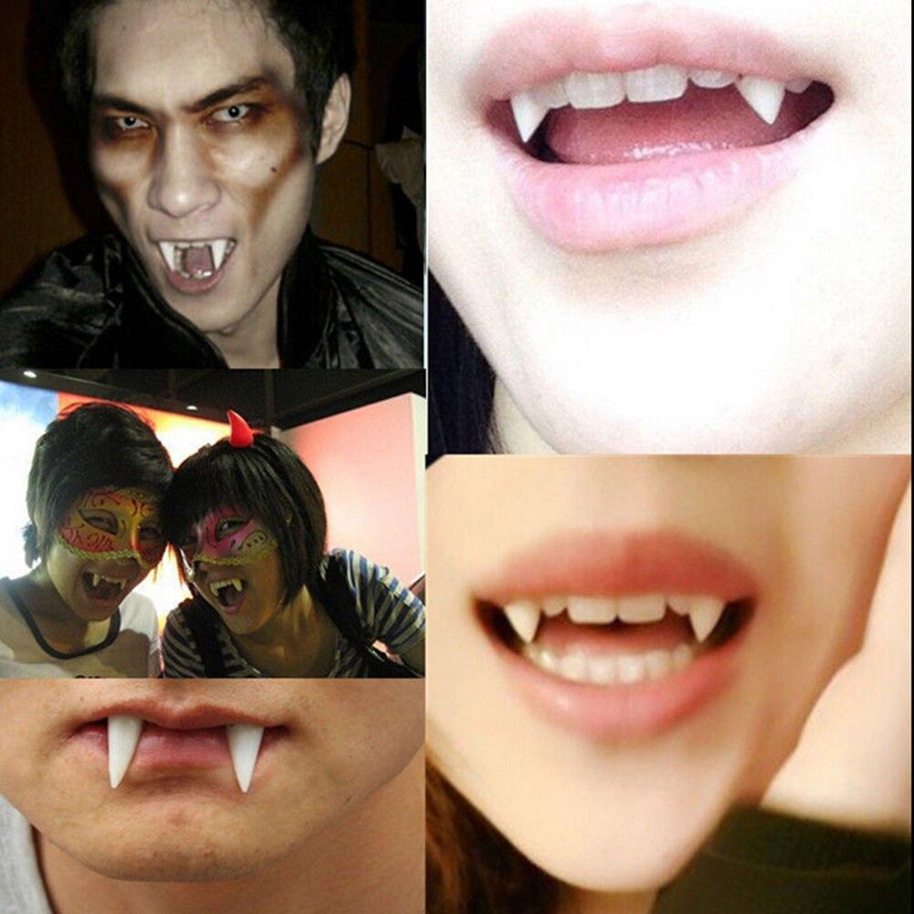 Halloween fangs teeth vampire Dracula unisex mens ladies cap teeth putty include