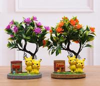 Factory direct sale hot style simulation of flowers bonsai Pikachu card resin crafts furniture