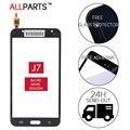 Оригинал Испытания 5.5 дюймов Сенсорный Экран Для Samsung Galaxy J7 Touch Стеклянная Панель Черный SM-J700F J700F Бесплатная Клей