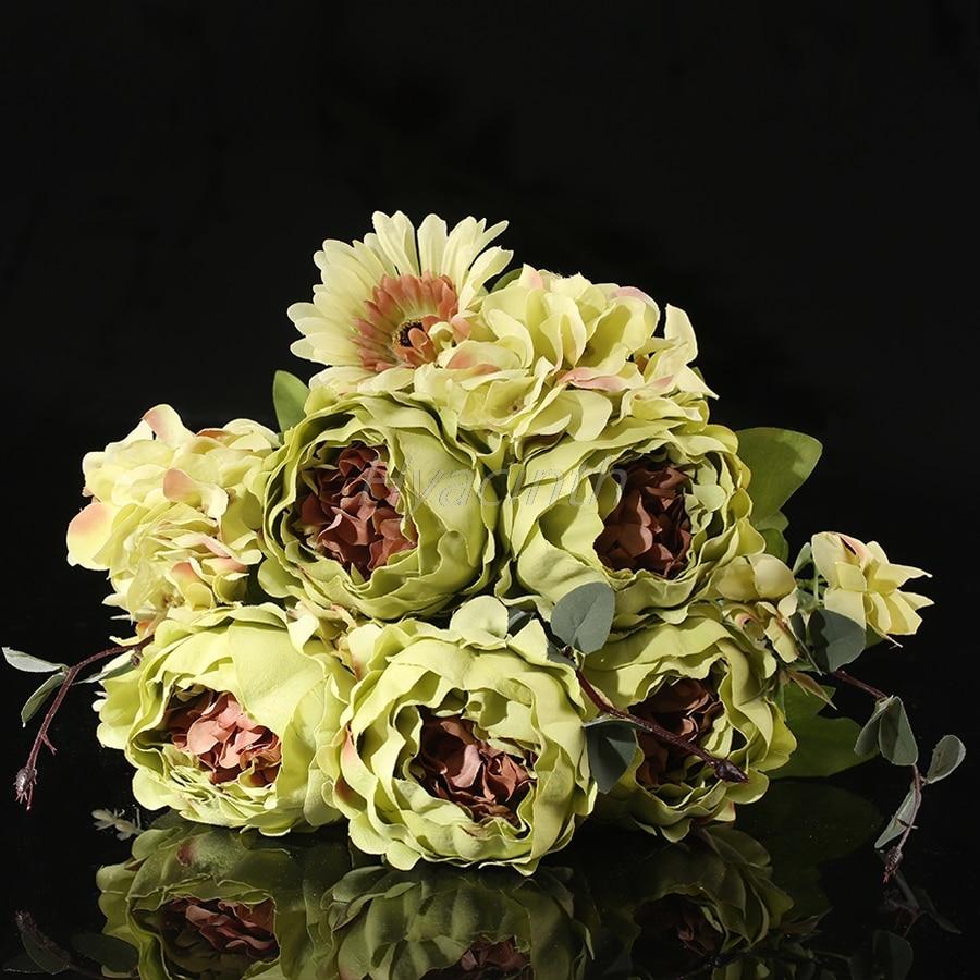 High Quality Silk Flower European 1 Bouquet Artificial Flowers Fall