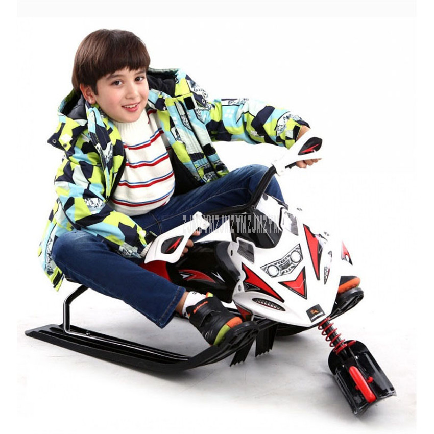 Outdoor Sport Steel Frame Ice/Snow Plow Snowboard Professional Skiing Motorcycle Sled Adult Children Kids Skiing Board 0088
