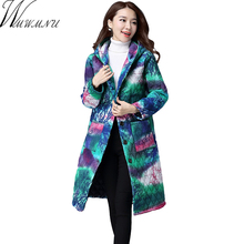Wmwmnu 2017 Women's Coat Spring Autumn Women's Fashion Windproof Parkas Female winter Jacket With printing New Design ls487