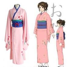 Кимоно 4 в 1 для косплея из аниме gintama Шимура tae cos с принтом