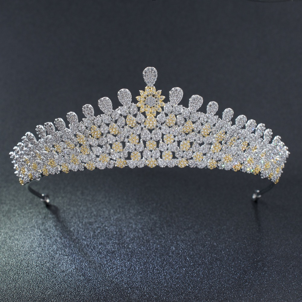 2018 New Design Full 5A CZ Cubic Zirconia Wedding Bridal Gold&Silver Tiara Crown Women Girl Hair Jewelry Accessories S90019T22018 New Design Full 5A CZ Cubic Zirconia Wedding Bridal Gold&Silver Tiara Crown Women Girl Hair Jewelry Accessories S90019T2