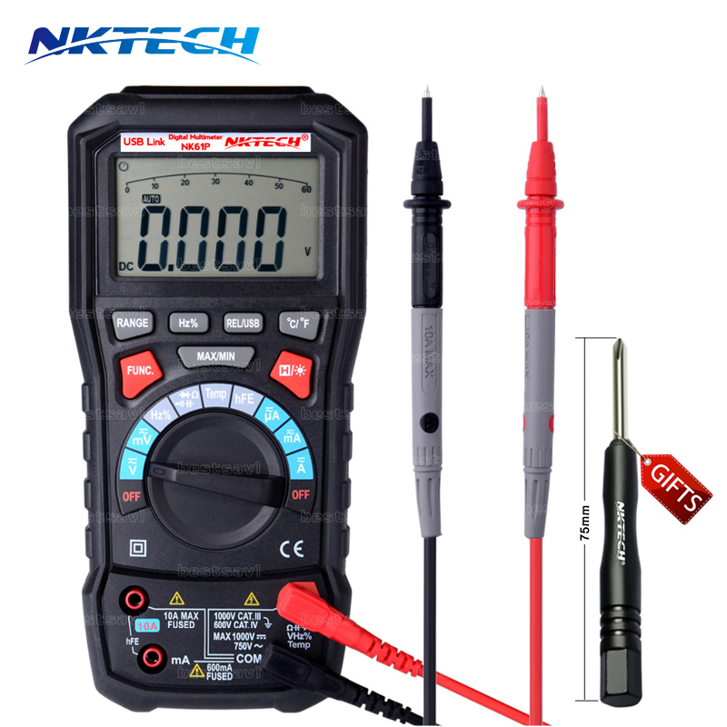 ФОТО NEW Voltmeter NKTECH NK61P VS ADM20 UT61E UT139C 6000 counts TURE RMS Autorange Digital Multimeter With USB interface