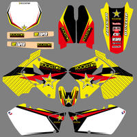 Motorcycle Matching Background Graphic Decals Stickers Kit For Suzuki RM125 RM250 RM 125 250 2001 2002 2003 2004 2005 2006 2012