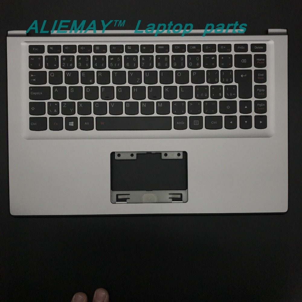 Laptop parts for LENOVO YOGA 2 13 Yoga2-13  SILVER/BLACK Palmrest  with Backlit CZECH  CZ-SK Keyboard 90205160 60205191 laptop parts for lenovo yoga 2 13 yoga2 13 black palmrest with backlit sweden sw1 keyboard 90205189