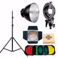Godox bowens halterung + reflektor + wabengitter + filter + lichtstativ