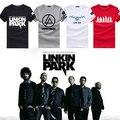 2016 Moda Linkin Park Rock t-shirt de algodão curto-sleeved camisa ParkT LP Summer manga curta-linkin park Linkin moletom
