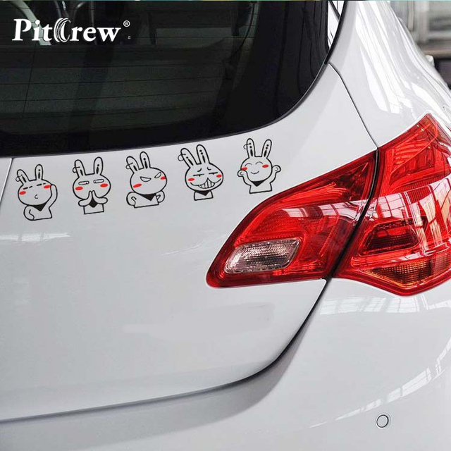 1PC 29*6cm High Quality Classic Cartoon Tuzki Car Stickers Vinyl Decals for Truck Decor Car Door Body and Motorcycle Accessories