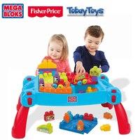 Mega Bloks классическая игрушка построить и узнать стол CNM42 стол d'apprentisage Et De Construction Baby Building настольная Игрушка Рождество