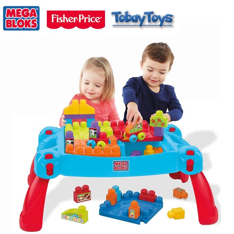 Mega Bloks классическая игрушка построить и узнать таблицы CNM42 Таблица D'Apprentissage Et De строительство ребенка здания стол игрушка Рождественский