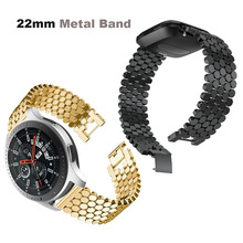 22mm Bracelet Stainless Steel Metal Strap For Xiaomi Amazfit GTR 47mm Pace Stratos 2 Watch Band For Samsung Gear S3 Galaxy 46mm