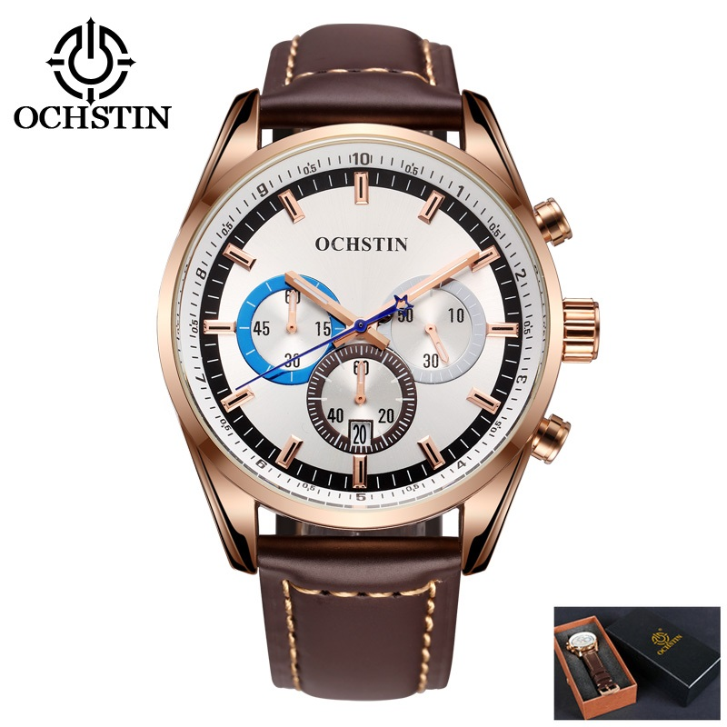 OCHSTIN Men Wrist Watch Top Brand Luxury Men Watches Famous Waterproof Quartz Watch Fashion Male Clock XFCS relogio masculino