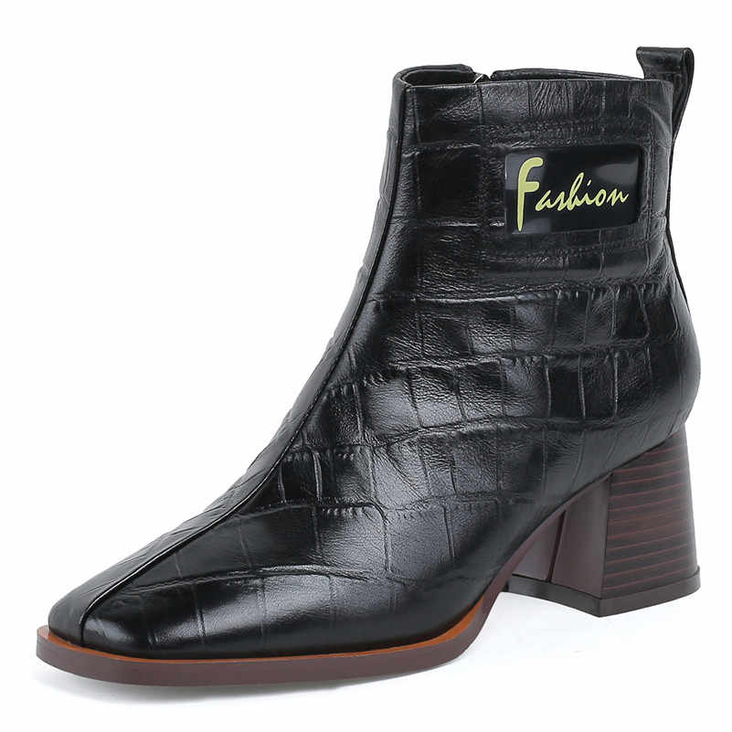 FEDONAS 2020 Sonbahar Kış sıcak Çocuk Süet Kadın yarım çizmeler Klasik Yuvarlak Ayak Yüksek Topuklu Fermuar Chelsea Çizmeler parti ayakkabıları Kadın