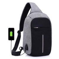 New Casual Functional Chest Bag Waist Bag Nylon Waterproof Men Female Chest Bag Money Phone Belt