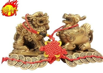 Send the money copper ornaments shop decoration his brave male and female family lucky gifts desktop