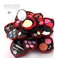 Miss rose marca flor grande paleta de sombra set 23 cores de sombra 6 pcs lipgloss 4 cores de blush lipsick/mascara/lipliner