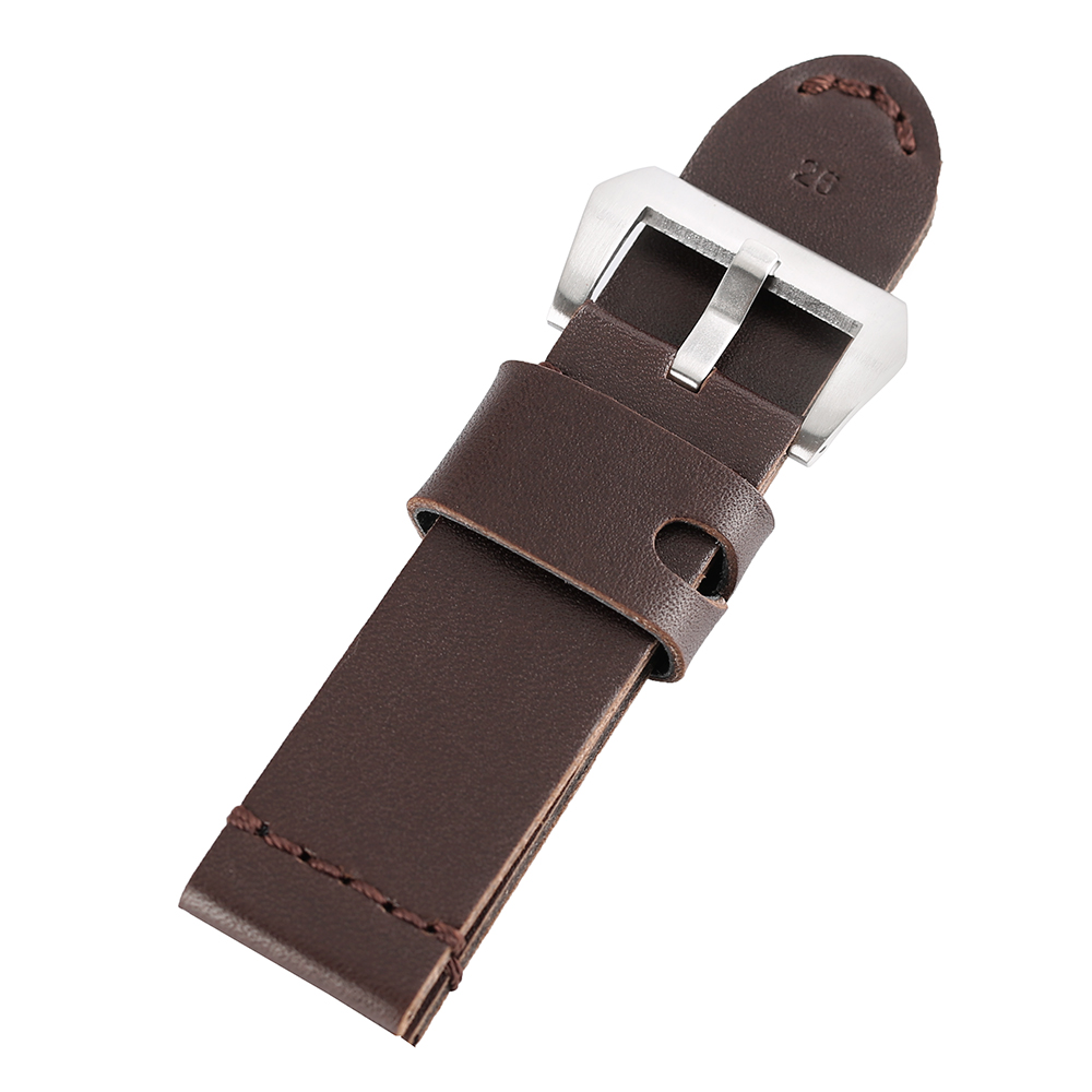 24mm 26mm Genuine leather Watchband Black Coffee Brown Watch Strap Band with Pin Buckle Women Men Wrist Watchband Replacement watchbands black brown leather watch strap band genuine soft buckle wrist replacement fits mens relojes hombre 2016 18 20mm 26mm