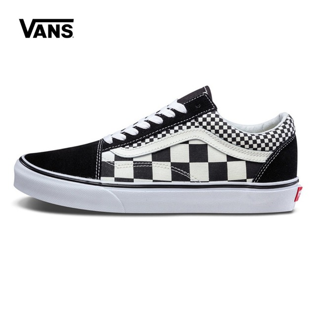ec32f449ea4 Original Vans Shoes Men s   Women s Classic Old Skool Low top Skateboarding Shoes  Checkerboard Comfortable Sneakers Canvas-in Skateboarding from Sports ...
