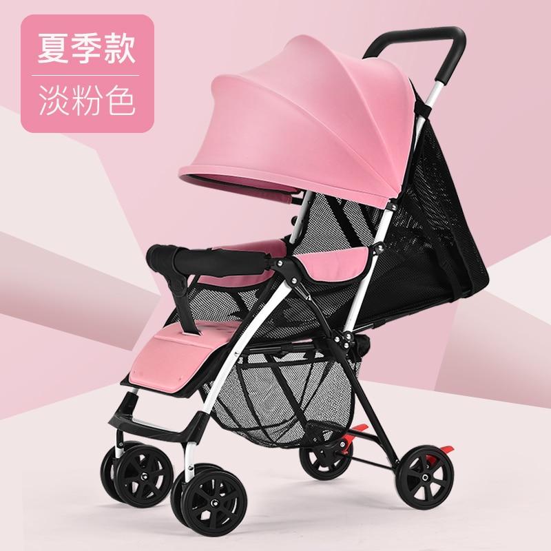 Baby stroller ultra light portable can sit reclining simple folding newborn baby stroller umbrella baby stroller ultra light portable shock absorbers bb child summer baby hadnd car umbrella