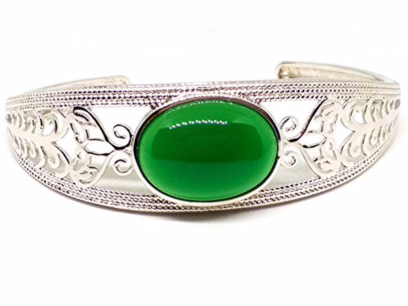 Koraba Fine JewelrySterling S925 Silver Bangle Green Jade Ellipse Bracelet Free ShippingKoraba Fine JewelrySterling S925 Silver Bangle Green Jade Ellipse Bracelet Free Shipping