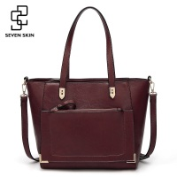 SEVEN SKIN Brand Bag Women PU Leather Handbag Female Large Capacity Shoulder Bags Casual Tote Bag